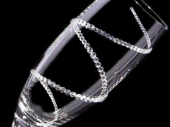 【シャンパングラス 螺旋】 結婚祝い 誕生日 プレゼント ギフト スワロフスキー デコグラスの画像