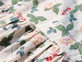【受注製作】大人・花柄果実・綿麻 ワンピース ゆったり ロングTK1002の画像