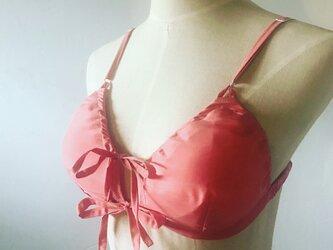 ふわりブラMサイズ シルクコットン Pink(内側ヘンプ100%)の画像