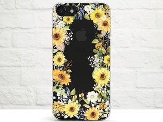 Sunflower Craze クリアソフト ケースの画像