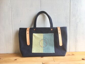 【SALE】紺色×丸ステッチの鞄 その2の画像