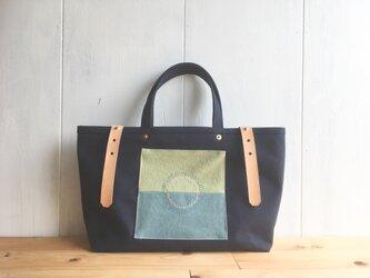 【SALE】紺色×丸ステッチの鞄 その1の画像