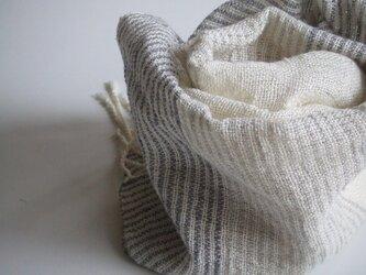 ☆七夕フェア☆手織り横しましまストール・・マリングレーの画像