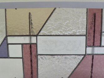 ステンドグラスパネル (淡いパープル)の画像