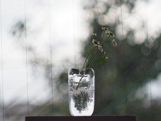 【再入荷】ガラスのフラワーベース 一輪挿しの画像