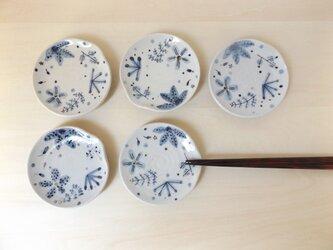 小皿 青茶の葉の画像