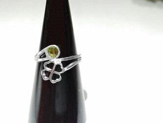 【クローバー◇オーバーラップリング】 指を細く魅せる / プレゼントとしてもおしゃれの画像