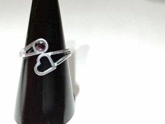 【ハート◇オーバーラップリング】 指を細く魅せる / プレゼントとしてもおしゃれの画像