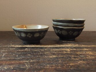 にじみ丸花飯碗(小)の画像