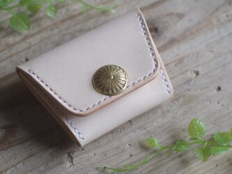 金ボタンみたいなコンチョのコインケース 【受注生産】の画像