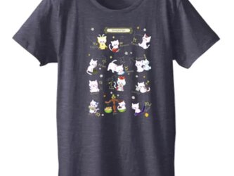 〈受注生産〉イラストプリント半袖Tシャツ _12星座キャットの画像
