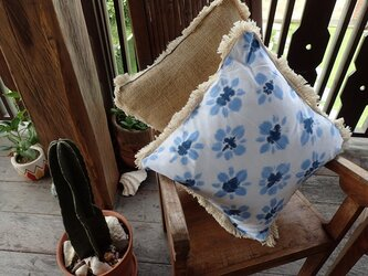 2WAY Cushion Cover Set - Flower tiedye -の画像