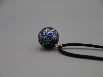 螺鈿蒔絵ペンダント 流れ星 (夜光貝)正絹紐の画像