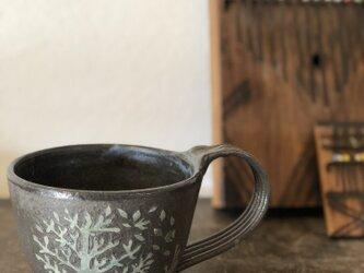 マグカップ―kakiotoshi black 宿り木の画像