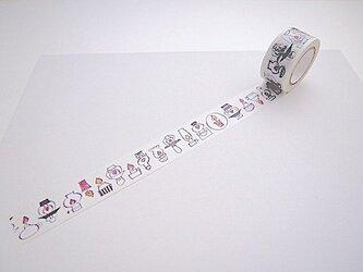 ツメサキの世界オリジナル マスキングテープ 「ランプとロウソク」の画像