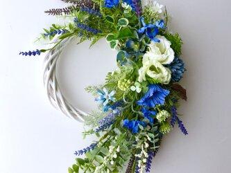 Green & Lavender wreathの画像