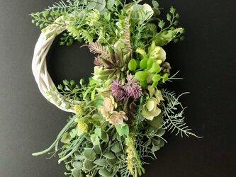 Green mini wreathの画像
