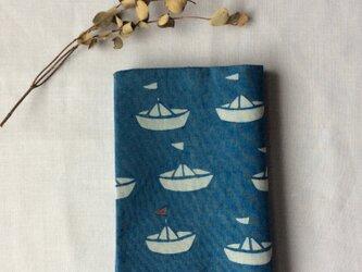 藍染め ブックカバー 「夏期休暇」の画像