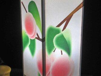 夢明かり≪桃の青春≫ 紙貼・中形・LED 飾りライトの醍醐味を!!の画像