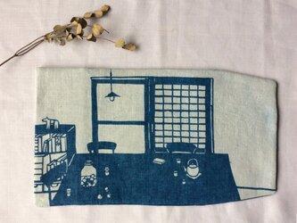 藍染め 新書用 ブックカバー 「夏の始まり 涼風」の画像