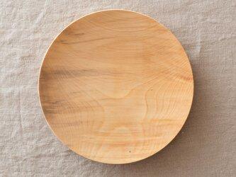 【再入荷在庫あり】ろくろ挽きの木皿 栃の木 21cmの画像