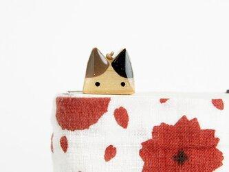 木製ネコしおり  茶・黒(ブックマーカー)の画像