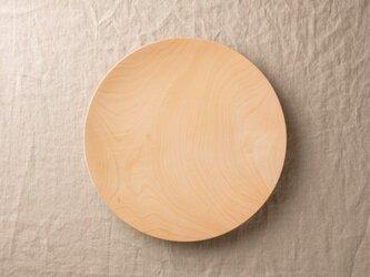 【再入荷在庫あり】ろくろ挽きの木皿 栃の木 18cmの画像