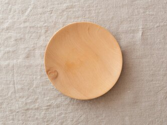 【再入荷在庫あり】ろくろ挽きの木皿 栃の木 15cmの画像