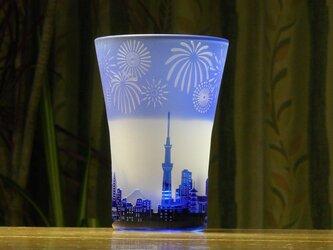 花火の街のタンブラー 青(1個)の画像
