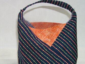 絹のあづま袋風プチポーチ の画像