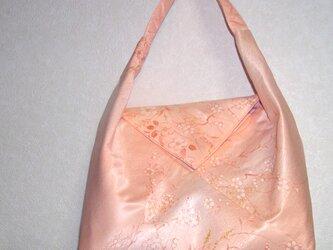 あづま袋バッグ 持ち手 かぶせにマグネット付き 使い勝手良くの画像