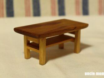 ドール用ローテーブル(色:チェスナット) 1/12ミニチュア家具の画像