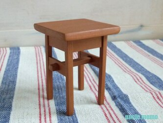 ドール用サイドテーブル(色:オレンジ) 1/12ミニチュア家具の画像