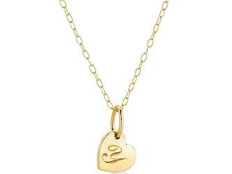 【Coeur M】 K10 恋するハートのネックレス 名入れジュエリー (受注生産)の画像