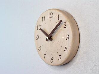 メイプルで作った掛け時計 直径18㎝の画像