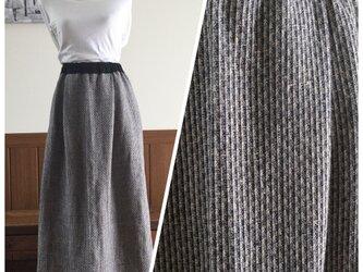 リトアニアリネンの変わり織りスカート⭐︎マキシ丈の画像
