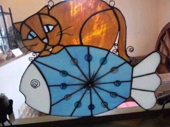 ねこ時計の画像