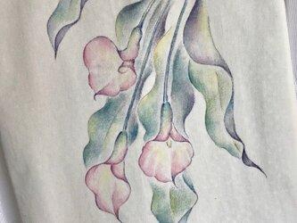 カラーの手描きバックの画像