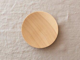 【受注生産】ろくろ挽きの木皿 栓の木 15cmの画像