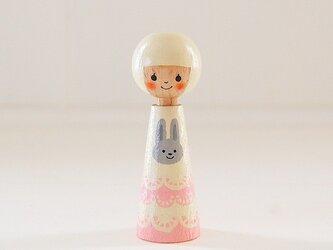 [conocokeshi]指人形・hand puppet[38]白ウサギの画像