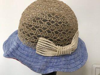 子供用 夏帽子(リバティ柄)の画像