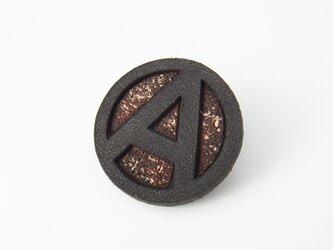 アナーキーマーク レザーバッジ ブラック茶芯の画像