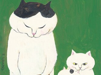 カマノレイコ オリジナル猫ポストカード「カステラ」2枚セットの画像