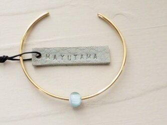 M様ご予約品 ガラスと真鍮のシンプルブレスレット(sorairo) 「sold」の画像