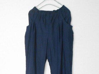 リネンのタックパンツ  Mサイズの画像