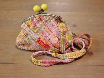 手織り がまぐちショルダーバッグSの画像