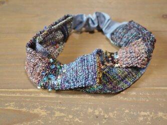 手織り ヘアターバン 春夏の画像