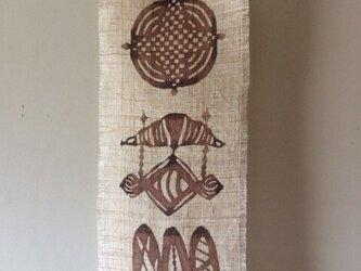 柿渋染めミニタペストリー  パンの画像