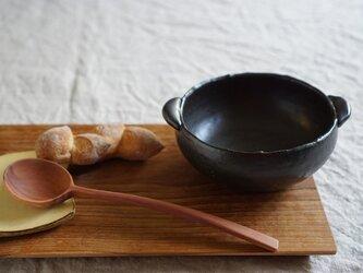 鬼萩のスープカップ 黒マット No.715の画像