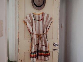 エチオピア ストライプワンピース Rasta shortの画像